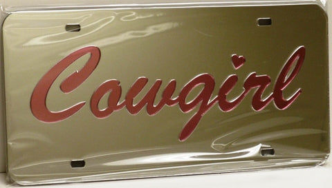 "(CLD-CGLT) ""Cowgirl Light"" Mirrored License Plate"
