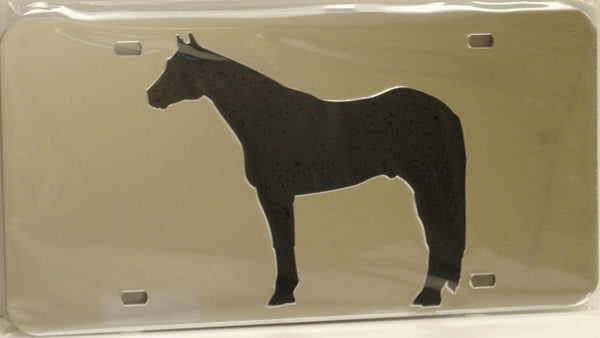 "(CLD-QH2L) ""Quarter Horse 2"" Western Mirrored License Plate Light"