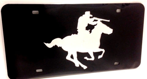 "(CLD-RFMDK) ""Rifleman"" Western Mirrored License Plate Dark"