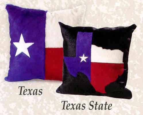 Cowhide Texas Pillows