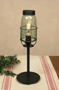 (CT362302) Tall Mason Jar Desk Lamp