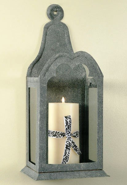 (CT840090T) Barn Roof Cathedral Candle Sconce