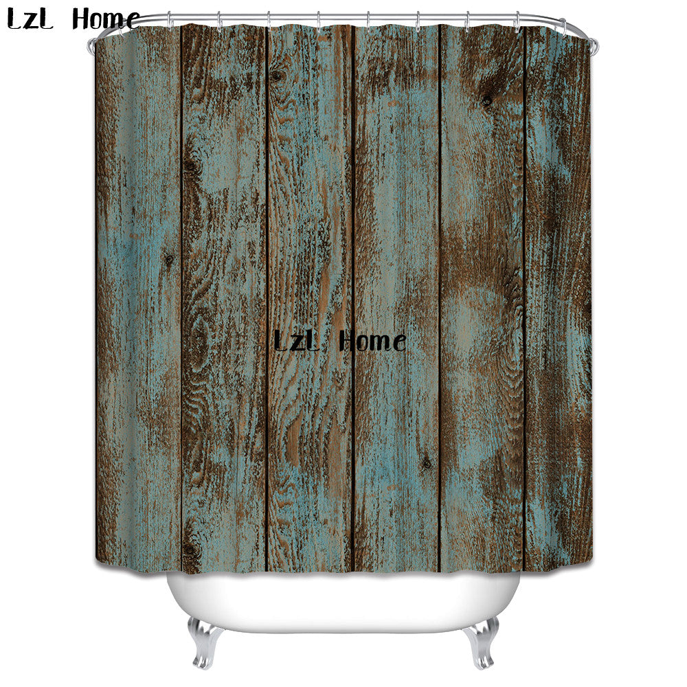 Patina Fence Rustic Shower Curtain
