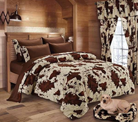 (DK1018-8FQCHO) Western Chocolate Rodeo Comforter Full/Queen