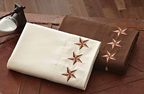 "(DKSSTS24K) ""Texas Star"" Western Embroidered Sheets King"