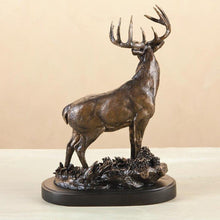 "Load image into Gallery viewer, (DM-B5030054) ""One Chance"" Whitetail Deer Sculpture by Marc Pierce"