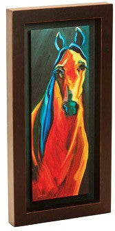 "(DM-B5210012) ""Horse-02"" Western Shadow Box Art"