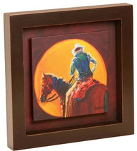"(DM-B5210016) ""Sunset Cowboy"" Shadow Box Art"