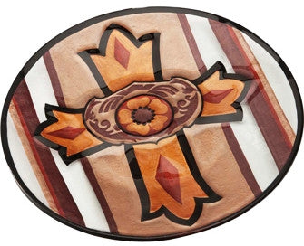 (DM-B5210026) Western Cross Hand-Painted Plate
