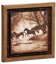 "(DM-B5210040) ""The Crossing"" Barnwood Shadow Box Art"