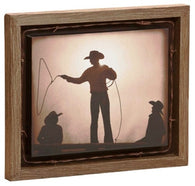 "(DM-B5210042) ""Braggin' Rights"" Barnwood Shadow Box Art"