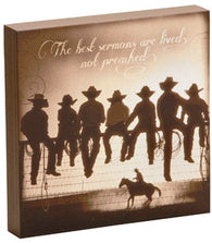 "(DM-B5210057) ""The Lesson"" Western Shadow Box Art"