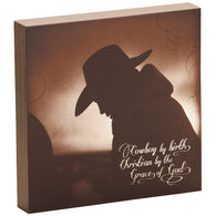 "(DM-B5210060) ""Cowboy by Birth"" Shadowbox Art"