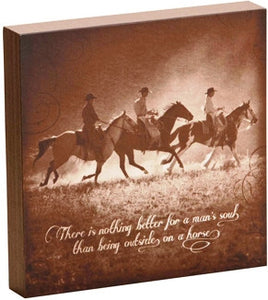 "(DM-B5210061) ""Soul Ride"" Western Shadow Box Art"