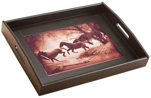 "(DM-B5210071) ""The Crossing"" Western Serving Tray"