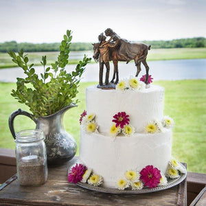 "(DM-B5220024) ""First Love"" Western Wedding Cake Topper"
