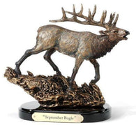 "(DM3005030096) ""Septemeber Bugle"" Elk Sculpture by Marc Pierce"