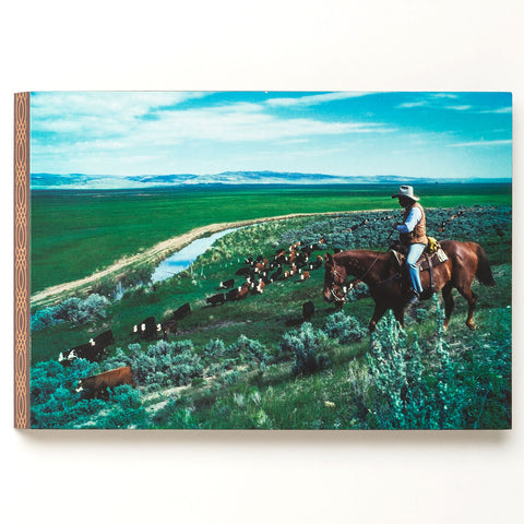 "(DM3005210292) ""Cattle Drive"" Western Canvas Art on Wood"
