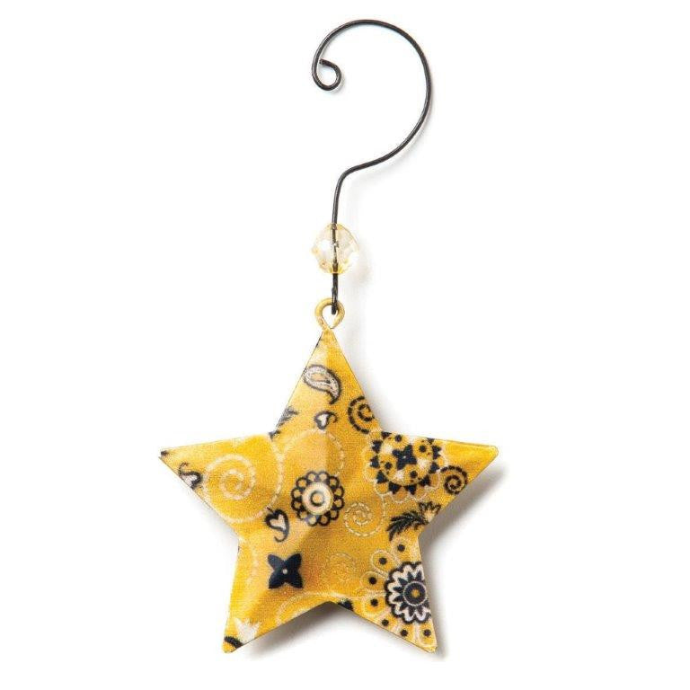 (DM30052400889) Western Yellow Bandana Star Ornament