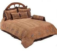 """Patched Two-Tone Star"" Western Bedding Set - Super Queen"