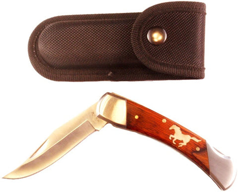 "(DRREFHRH) ""Running Horse"" Rite Edge Folder Hunter Knife"