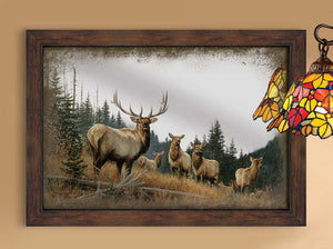 """Royal Mist"" Elk Decorative Mirror"