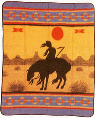 "(EPOT4) ""End of the Trail"" Western Blanket"