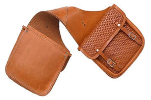 (EPCZBAG) Western Basketweave Saddlebag