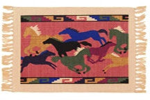 "(EPHIMAT128)""Turn 'em Loose"" Western Placemats"