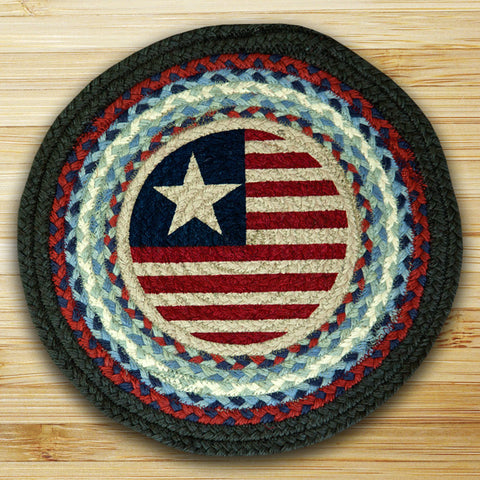 (ER-CH015) Original Flag Hand Printed Chair Pad/Placemat 15-1/2""