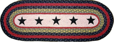 (EROP-238) Black Stars Western Oval Patch Runner