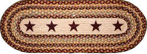 (EROP-357) Burgundy Stars Western Oval Patch Runner