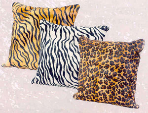 "Exotic Cowhide Pillows 20"" Square"