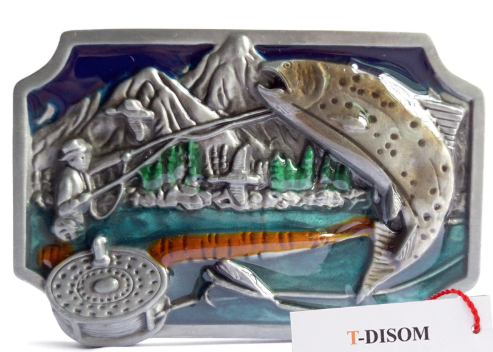 Western Fly Fishing Belt Buckle