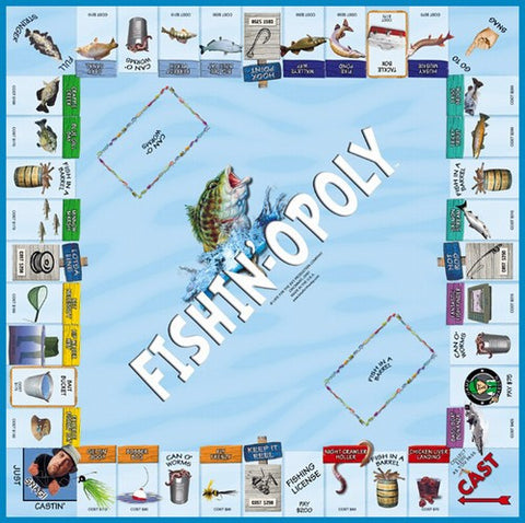 Fishin'-opoly Western Board Game
