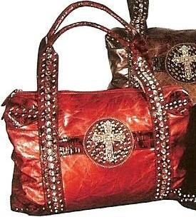 Western Faux Leather Cross Handbag Red – Wild West Living 18be4c0512