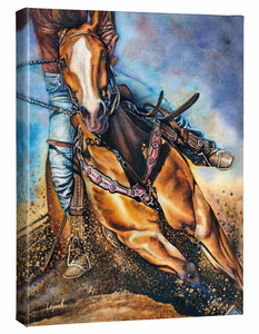 "'Get 'er Done"" Horse Gallery Wrapped Canvas"
