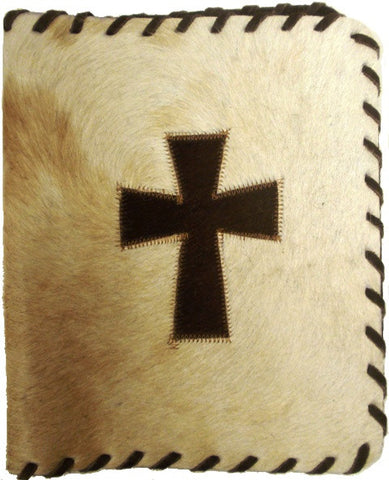 (GLP-BCCRS) Genuine Cowhide Bible Cover with Cross