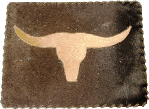 "(GLP-PMLH) ""Longhorn"" Genuine Cowhide Placemats"