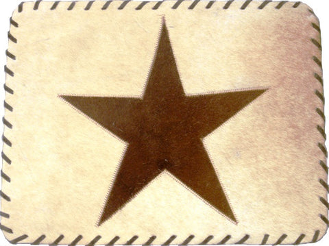 "(GLP-PMST) ""Star"" Genuine Cowhide Placemat"