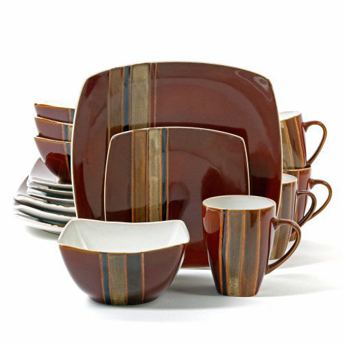 (GO91312-16)  Regent Red  Western Stoneware 16-Piece Dinnerware Set.    sc 1 st  Wild West Living & western dinnerware u2013 Wild West Living
