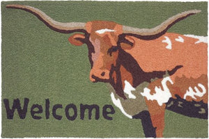 """Longhorn Welcome"" Western Accent Rug"
