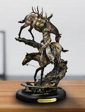 "Load image into Gallery viewer, ""Last Creek Crossing"" Western Sculpture by Marc Pierce"