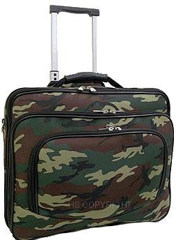 (HSHP2013-513) Rolling Briefcase/Laptop Case-Camouflage(Green)