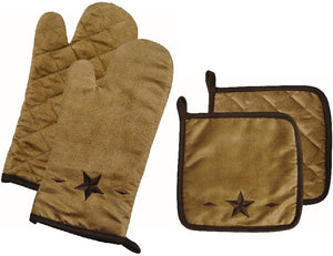 "(HX2010-OM-PH) ""Western Star"" Oven Mitt and Pot Holder Set"