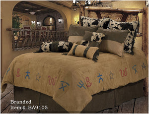 "(RWBA9105-SQ) ""Branded"" Western 5-Piece Bedding Set - Super Queen"