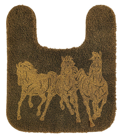 "(HXBC3003) Western ""3-Horses"" Contour Rug 20"" x 24"""