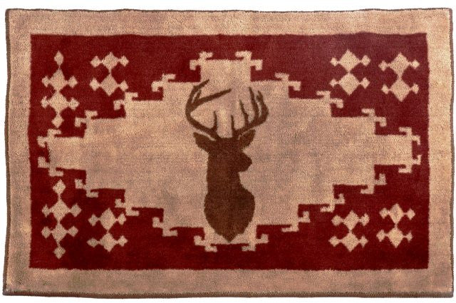 (HXBL1803) Deer Northwoods Bath/Accent Rug