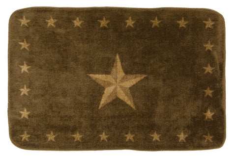 "(HXBW1001CH-2X3) ""Western Star"" Bath/Kitchen Rug - 2 X 3"