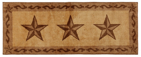 "(HXBW2010CH-2460) ""Western Star Chocolate"" Bath/Kitchen Runner Rug - 24"" x 60"""
